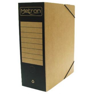 Metron Κουτί αρχείου με λάστιχο οικολογικό ράχη 12cm 4 χρώματα