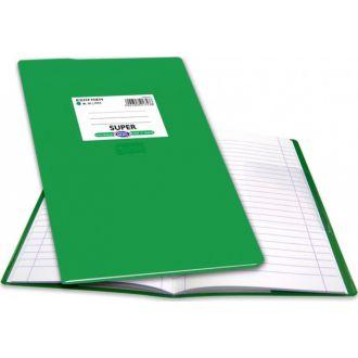 Skag Τετράδιο εξηγήσεων 17x25 Ριγέ 100Φ Πράσινο 223904