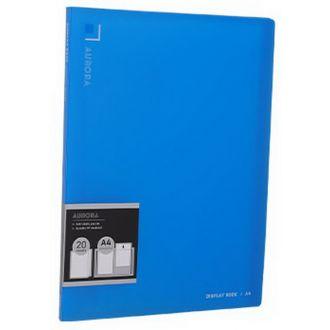 Deli Σουπλ καθρέφτης PP 20 θέσεων Α4 Aurora διάφανο μπλε 231.02432