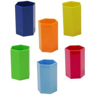 Metron μολυβοθήκη εξάγωνη classic πλαστική διάφορα χρώματα