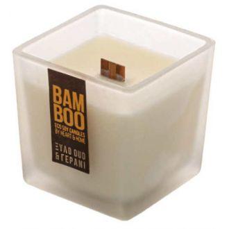 HeartAndHome Κερί bamboo 210γρ Ξύλο oud & γεράνι