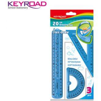Keyroad σετ γεωμετρίας εύκαμπτο σετ 3 τμχ.