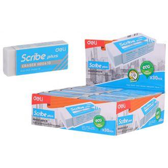 Deli γόμα Scribe Χ-Plus 60x24x12χιλ. λευκή EH00410