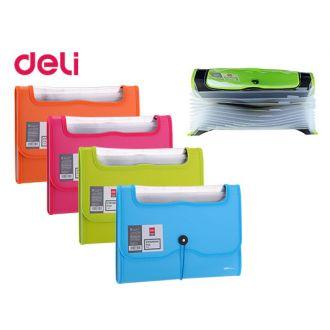 Deli Ντοσιέ φυσαρμόνικα με λάστιχο Α4 12 Θέσεων Διάφορα χρώματα