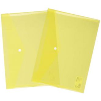 Deli φάκελος κουμπί Α4 διάφανος PP Κίτρινος (E5505DY)