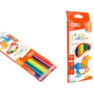 Deli ξυλομπογιές Wood Free triangle Color Run 12 χρώματα C00100 (231.940919)