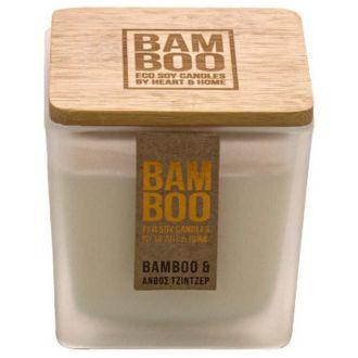 HeartAndHome Κερί bamboo 90γρ Bamboo & Άνθος τζίντζερ