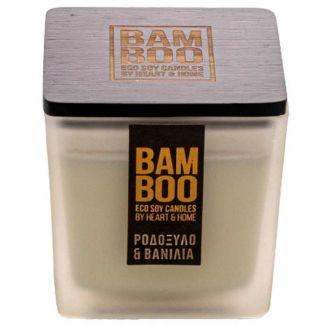 HeartAndHome Κερί bamboo 90γρ Ροδόξυλο & Βανίλια