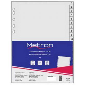 Metron διαχωριστικά πλαστικά Αριθμών Α4 1-31 Γκρι