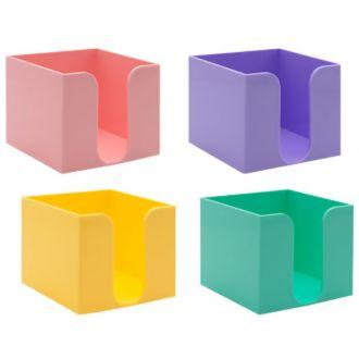 Metron κύβος πλαστικός για χαρτάκια σημειώσεων pastel χρώματα