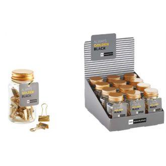 Miquelrius πιάστρες μικρές χρυσές σε γυάλινο βαζάκι 13038