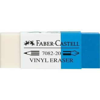 Faber Castell γόμα λευκή-μπλέ  188220