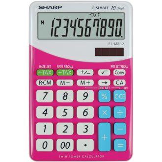 SHARP EL-M332 αριθμομηχανή γραφείου 10ψ 149x100x27 ροζ
