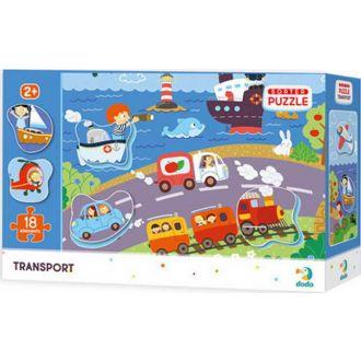 DODO puzzle τρένα - πλοία - αεροπλάνα 18τμχ.
