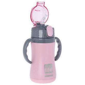 Ecolife μεταλλικός θερμός  παιδικό  300ml Ροζ 33-ΒΟ-3005