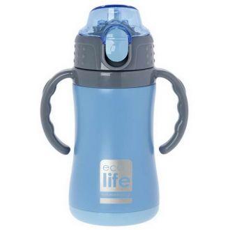 Ecolife μεταλλικός θερμός  παιδικό  300ml Μπλε 33-BO-3006