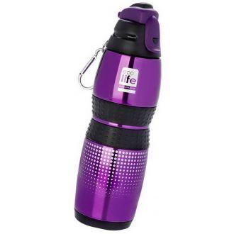 Ecolife μεταλλικό μπουκάλι 400ml vacuum sports Purple 33-BO-3012