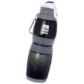 Ecolife μεταλλικό μπουκάλι 400ml vacuum sports Black 33-BO-3013