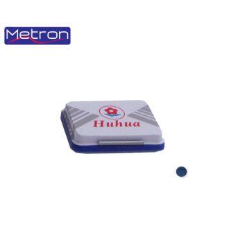 Metron Ταμπόν σφραγίδων Huhua Μεγάλο Νο2 (8x12cm) Μπλέ