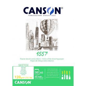 Canson μπλοκ σχεδίου Α3 29,7x42cm 120gr 50φύλλα C204127409