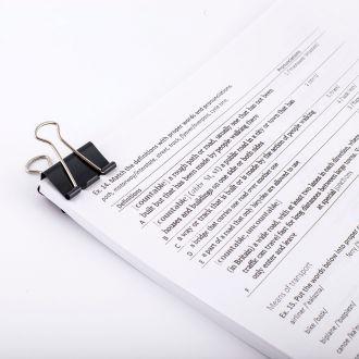 d.rect Πιάστρα εγγράφων 32mm Μαύρο (12τμχ)