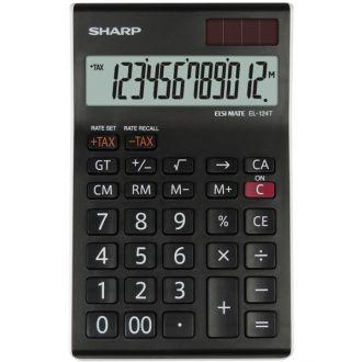 Sharp Αριθμομηχανή γραφείου 12 ψηφίων EL-124T-WH