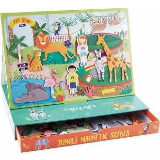Floss and Rock Magnetic Box - Jungle Animal Scenes 39P3509