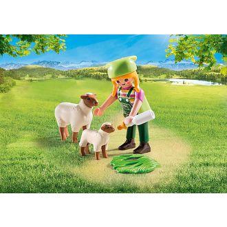 Playmobil 9356 Special Plus - Αγρότισσα με Προβατάκια.