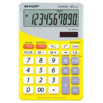 SHARP EL-M332 αριθμομηχανή γραφείου 10ψ 149x100x27 κίτρινη