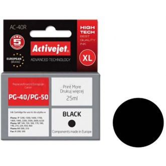 ActiveJet Μελάνι Canon PG-40/PG-50 Black (AC-40)
