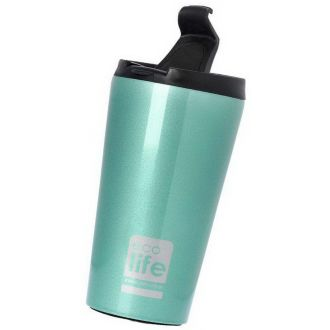 Ecolife coffee thermos 370ml Light Blue 33-BO-4001.