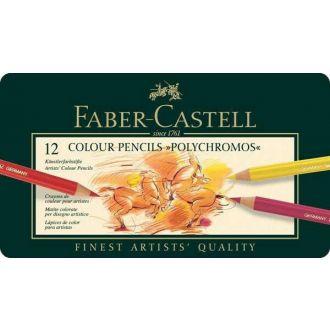 Faber - Castell Ξυλομπογίες ακουαρέλας σε μεταλλική κασετίνα πολυτελείας 12τμχ (110012)