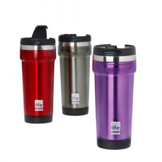 Ecolife coffee thermos mug 420ml Red 33-BO-4009