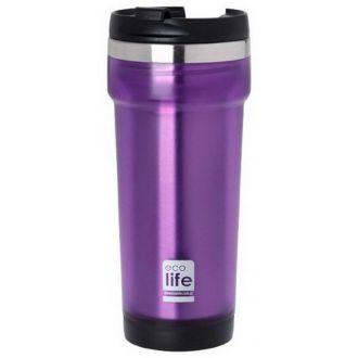 Ecolife coffee thermos mug 420ml Purple 33-BO-4011