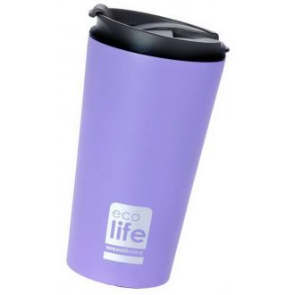 Ecolife coffee thermos 370ml Lilac matt 33-BO-4013