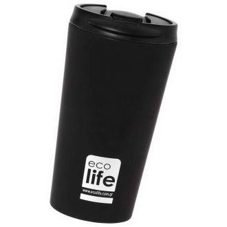 Ecolife coffee thermos 370ml Black matt 33-BO-4015
