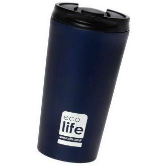 Ecolife coffee thermos 370ml Blue-Black matt 33-BO-4016
