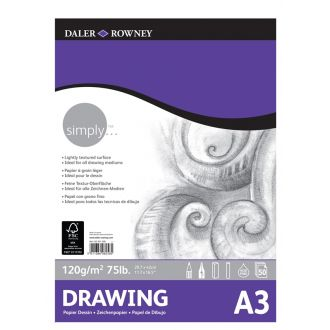 Daler Rowney Simply Drawing pad A3 120gr 50 Φύλλων (435931300)