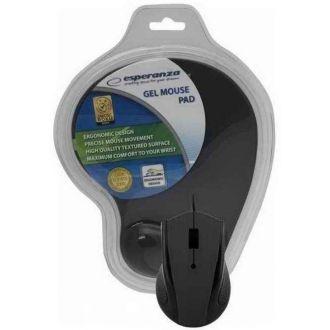 Esperanza Ποντίκι ενσύρματο 1200DPI + mousepad gel EM125K Black (EM125K)