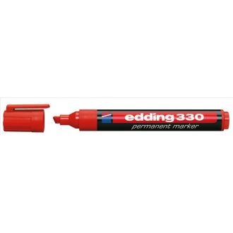 edding 330 Μαρκαδόρος ανεξίτηλος πλαστικος Κόκκινο