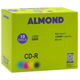 ALMOND CD-R 700MB 52X 10 SLIM