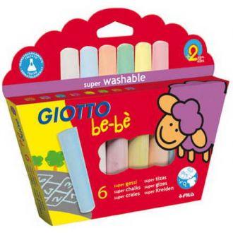 Giotto κιμωλίες be-bè Super Chalks 6τμχ. 0467300