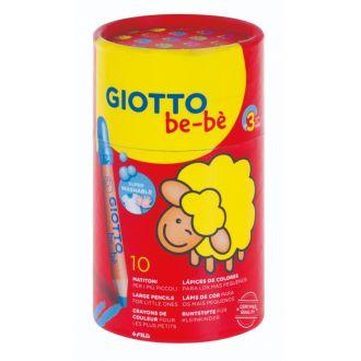 Giotto Ξυλομπογιές BE-BE 10 χρώματα σε ποτηράκι 000479400
