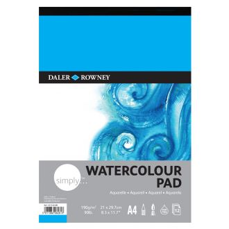 Daler Rowney Simply Watercolor Pad Aquarella A4 190gr 12 Φύλλων (431532400)