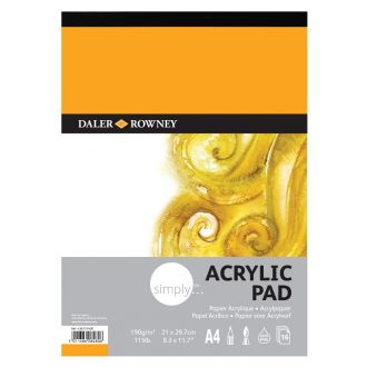 Daler Rowney Simply Acrylic pad A4 190gr 16 Φύλλων (436731400)