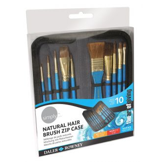 Daler Rowney Simply Πινέλα Σετ Watercolor 10 brush zip case (216919010)