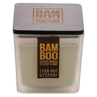 HeartAndHome Κερί bamboo 90γρ Ξύλο oud & γεράνι