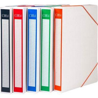 Ιωνία Κουτί αρχείου με λάστιχο χάρτινο Ράχη 4cm Διάφορα χρώματα