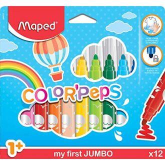 Maped Μαρκαδόροι Color'Peps Maxi 12 χρώματα 846020