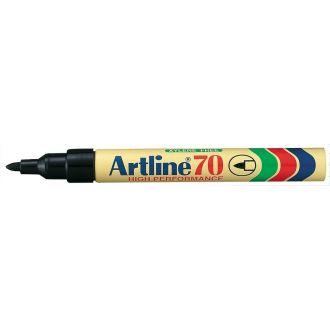 Artline 70 Μαρκαδόρος ανεξίτηλος 1.5mm Μαύρο (EK-70)
